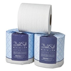 DublSoft Universal Bathroom Tissue, 2-Ply, 500 Sheets, 48 Rolls/Carton