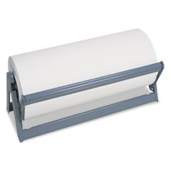 "All-In-1 Paper Roll Dispenser & Cutter, 9"" Diameter, 18"" Wide, Steel, Light Gray"