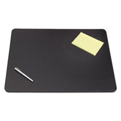 Artistic Sagamore Desk Pad W/Decorative Stitching, 38 X 24, Black