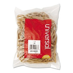 Rubber Bands, Size 33, 3-1/2 x 1/8, 160 Bands/1/4lb Pack