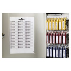 Locking Key Cabinet, 54-Key, Brushed Aluminum, Silver, 11 3/4 x 4 5/8 x 11