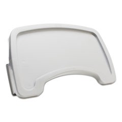 Sturdy Chair Microban Youth Seat Tray, Plastic, Platinum