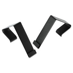 "Cubicle Partition Hangers, 1 1/2"" - 2 1/2"" Panels, Black, 2/Set"