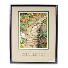 """Challenge"" Framed Motivational Print, 24 x 30"
