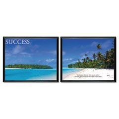 """Success"" Framed Motivational Print, 30 x 24, 2/Pack"