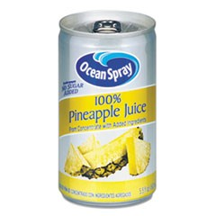 100% Juice, Pineapple, 5.5 oz Can