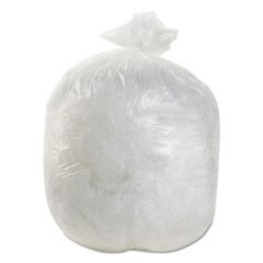 High-Density Can Liner, 20x22, 7 Gal, 6 Mic Equiv., Natural, 50 Bag/RL, 40 RL/CT