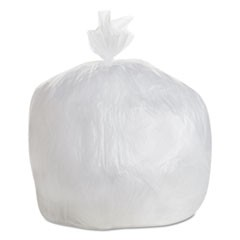 High-Density Can Liner, 30x36, 20-30 gal, 8 Mic, Natural, 25 Bag/RL, 20 RL/CT