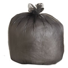 High-Density Can Liner, 40x46, 40-45gal, 19mic Equiv., Black, 25 Bag/RL, 6 RL/CT