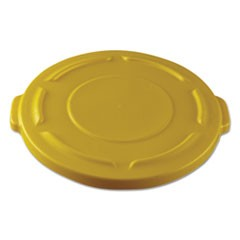 "Round Flat Top Lid, for 20-Gallon Round Brute Containers, 19 4/5"", dia., Yellow"