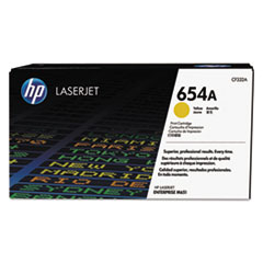 HP 654A, (CF332A) Yellow Original LaserJet Toner Cartridge