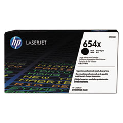 HP 654X, (CF330X) High Yield Black Original LaserJet Toner Cartridge