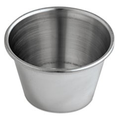 Sauce Cups, 2.5 oz., Stainless Steel, 12/Pack