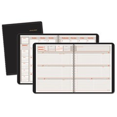 Weekly/Monthly Appointment Book, 6 7/8 x 8 3/4, Black, 2017