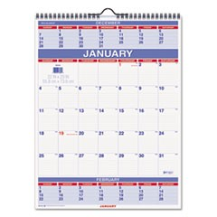 Three-Month Wall Calendar, 22 x 29, 2018