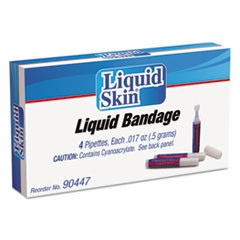 Liquid Bandage, 0.017 oz Pipette, 4/Box