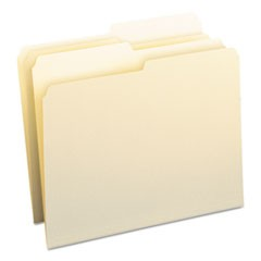 Manila File Folders, 1/2-Cut Tabs, Letter Size, 100/Box