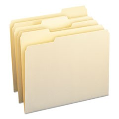 Manila File Folders, 1/3-Cut Tabs, Letter Size, 100/Box