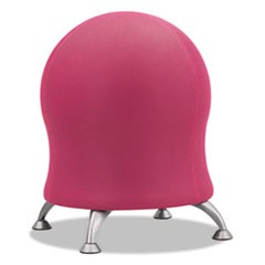 "Zenergy Ball Chair, 22 1/2"" Diameter x 23"" High, Pink/Silver"