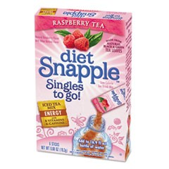 Iced Tea Singles To-Go, Diet Raspberry Tea, 0.68 oz Stick, 72 sticks
