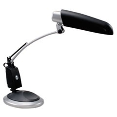 "Full Spectrum 13W Desk Lamp, Spring Balance Arm w/14"" Reach, Black/Silver"