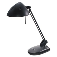 "High-Output Three-Level Halogen Desk Lamp, 13-1/4"" Reach, Matte Black"