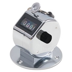 Tally II Desk Model Tally Counter, Registers 0-9999, Chrome