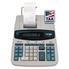 1776 TAA Compliant Ribbon Printing Calculator,12-Digit, Fluorescent