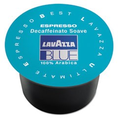 BLUE Espresso Capsules, Capsules, Decaffeinated Medium Roast, 8g, 100/Box