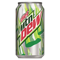 Mountain Dew Diet Citrus, 12 Oz Soda Can, 12/Pack
