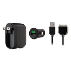 Swivel Car Charger, 2.1 Amp Port, Detachable Lightning Cable