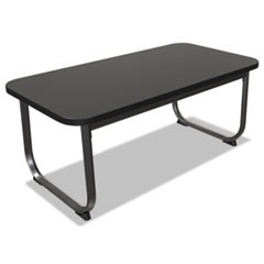 Oui Reception and Lobby Tables, Coffee Table, 40w x 20d x 19h, Black