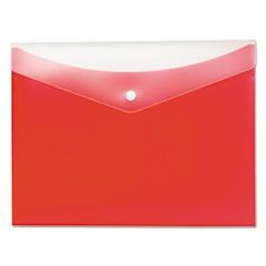 Poly Snap Envelope, Letter, Strawberry