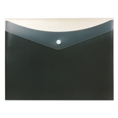 Poly Snap Envelope, Snap Closure, 8.5 x 11, Charcoal