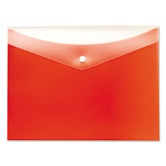 Poly Snap Envelope, Snap Closure, 8.5 x 11, Tangerine