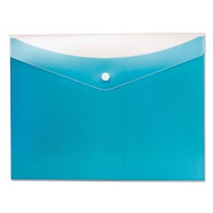 Poly Snap Envelope, Snap Closure, 8.5 x 11, Blueberry