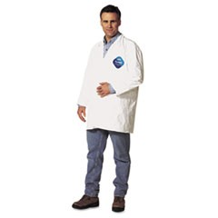 Tyvek Lab Coat, White, Snap Front, 2 Pockets, X-Large, 30/Carton