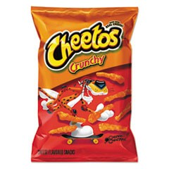 Crunchy Cheese Flavored Snacks, 3.25 oz Bag, 28/Carton