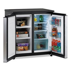 5.5 CF Side by Side Refrigerator/Freezer, Black/Stainless Steel