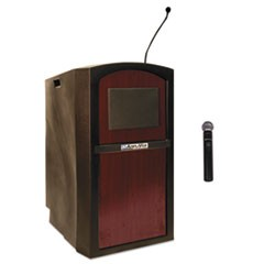 Pinnacle Multimedia Lectern, 26w x 25d x 46h, Mahogany/Black