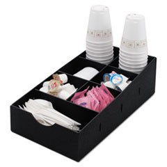Condiment Caddy, 8.75w x 16d x 5.25h, Black