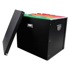 File Box, 16 x 13 x 13 1/2, Letter/Legal, Paperboard, Black