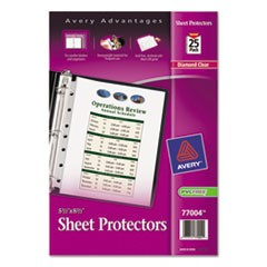 Top Load Sheet Protector, Heavyweight, 8.5 x 5 1/2, Clear, 25/Pack