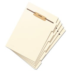 Stackable Folder Dividers w/ Fasteners, 1/5-Cut Top Tab, Letter Size, Manila, 50/Pack