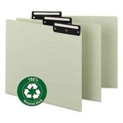 Recycled Blank Top Tab File Guides, 1/3-Cut Top Tab, Blank, 8.5 x 11, Green, 50/Box