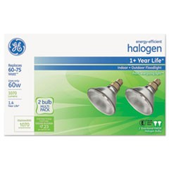 Energy-Efficient PAR38 Halogen Bulb, 60 W, 2/Pack