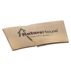 Hot Cup Sleeves, Fits 10oz, 12oz, 16oz, 20oz Cups, 1000/Carton