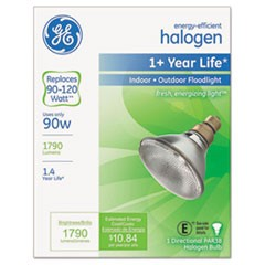 Energy-Efficient PAR38 Halogen Bulb, 90 W, Crisp White