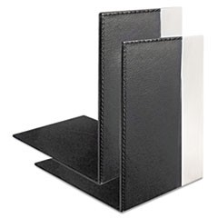 Architect Line Bookends, 6 3/4 x 6 3/4 x 5, Black/Silver