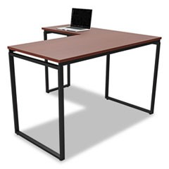Seven Series L-Shaped Desk, 59 x 47 1/4 x 29 1/2, Cherry